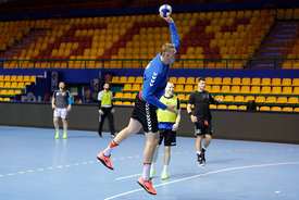 Dainis Kristopans during the Final Tournament - Final Four - SEHA - Gazprom league, Team training in Brest, Belarus, 06.04.2017, Mandatory Credit ©SEHA/ Stanko Gruden