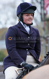 Kelly Morgan at the meet - The Cottesmore at Knossington 22/11