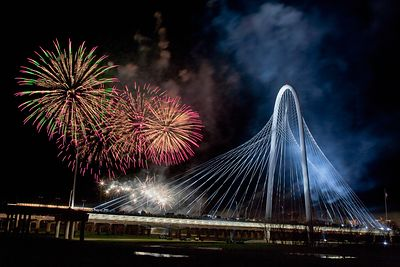 Margaret Hunt Hill Bridge Fireworks 4