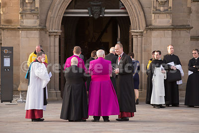 Roman Catholic Clergy talking to the Cathedral's Canon Precentor, Johannes Arens