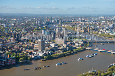 London, aerial view, South Bank.