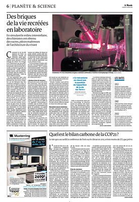 Le Monde (avril 2016) photos