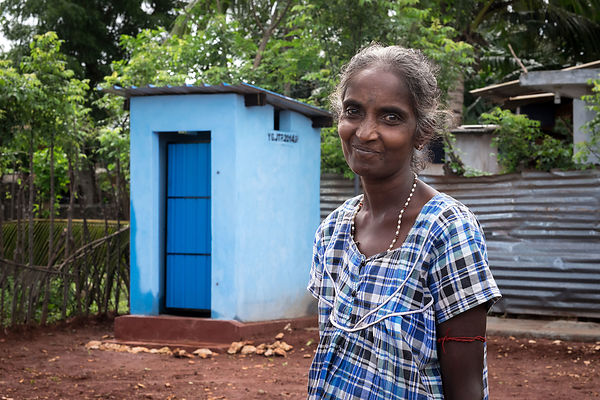 Varatharajan Sasirekha applied for a micro loan to build a toilet on her property.
