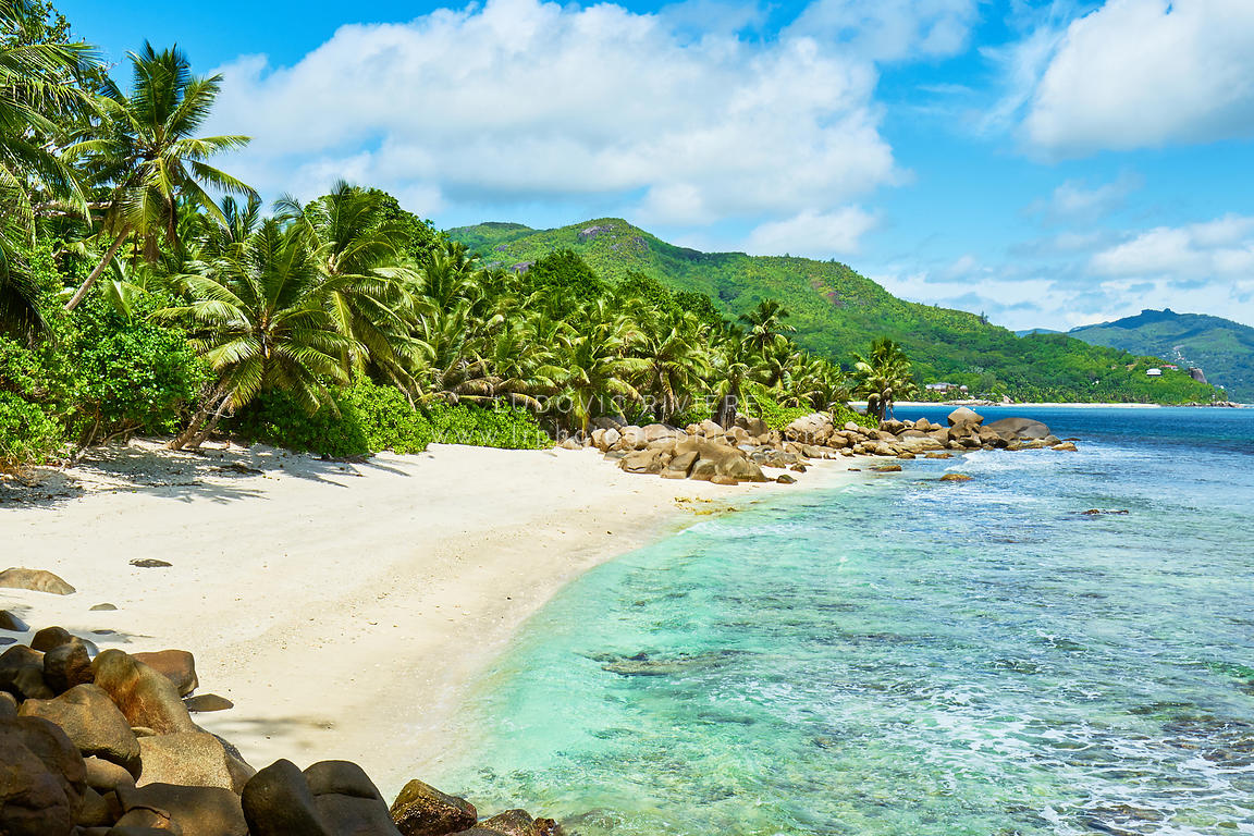 Tropical beach at seychelles, south of mahe, Petite marie louise bay