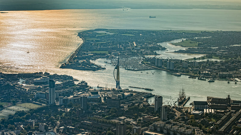 Aerial View of Portsmouth Harbour Entrance; Portsmouth