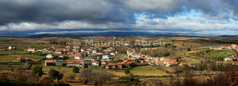 Panoramic view of Tras-os-Montes from the Outeiro de Miranda castle. Portugal