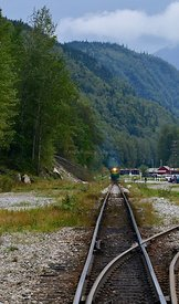 Train coming Skagway