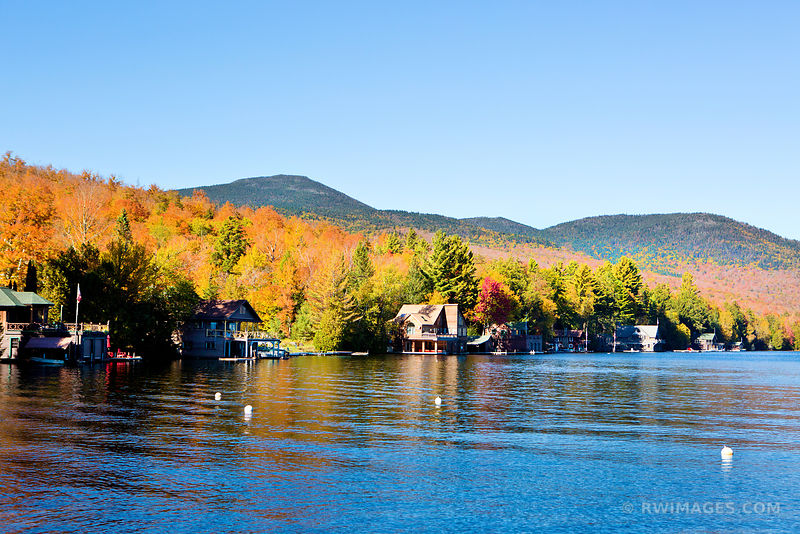 LAKE PLACID ADIRONDACK MOUNTAINS FALL