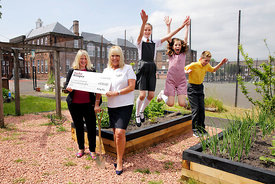Taylor Wimpey at Braehead Primary School, Dumbarton..8.6.18.TW Sales Exec Lorraine Scouller (TW The Fairways development, white shirt) presents the cheque to Acting Head Caroline Gibson...Free PR use for Taylor Wimpey..More info and Press Release from:.Hazel Taylor .Red Angel PR (Edinburgh) Ltd .4 Macfie Loan .Colinton .Edinburgh .EH13 0FP .0131 441 9803/07709317289 .hazel.taylor@redangelpr.co.uk..Pictures Copyright: Iain McLean.79 Earlspark Avenue.G43 2HE.07901 604 365.www.iainmclean.com.photomclean@googlemail.com.07901 604 365.ALL RIGHTS RESERVED.NO SYNDICATION.
