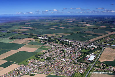 aerial photograph of Sutton Bridge Lincolnshire England UK