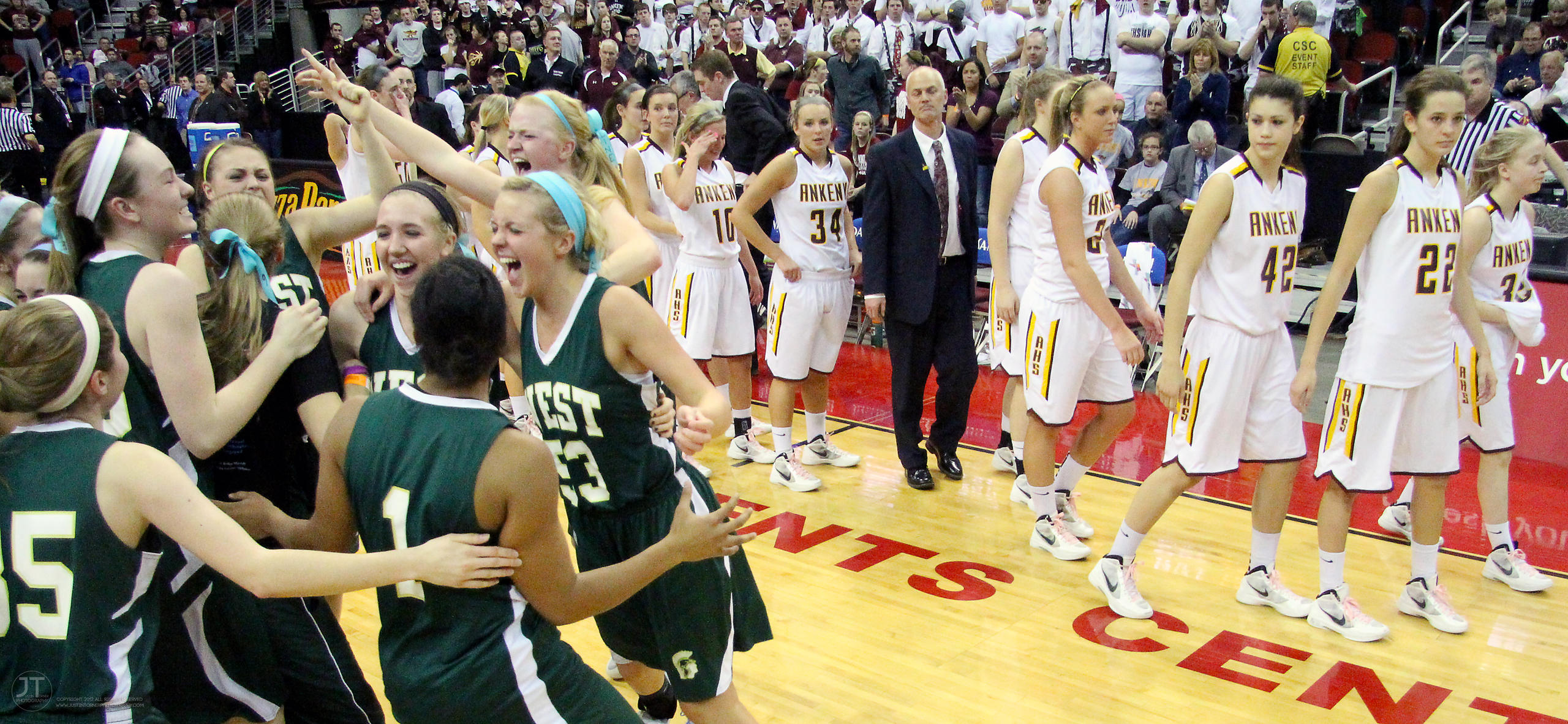 Girls Basketball 4A State Championship Game Iowa City West vs Ankeny 3/3/12 photos