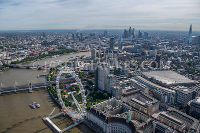 London, aerial view of the London Eye