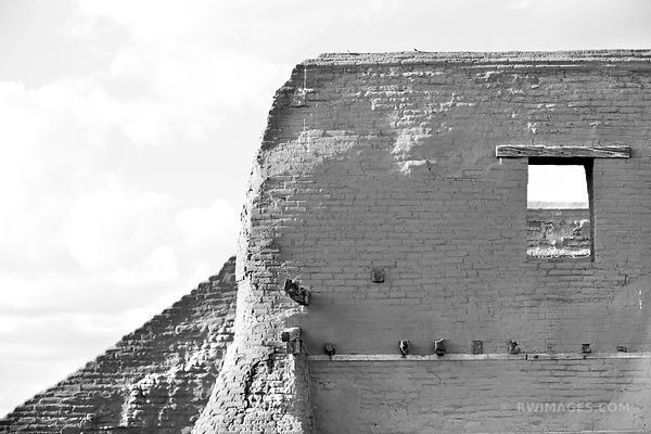 PUEBLO RUINS PECOS NATIONAL HISTORICAL PARK NEW MEXICO BLACK AND WHITE