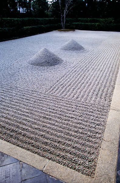 Detail of a sand garden at the Daisen-In Temple
