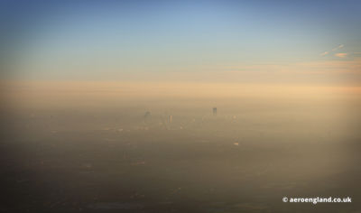 view of Manchestertaken on a cold misty winters day.