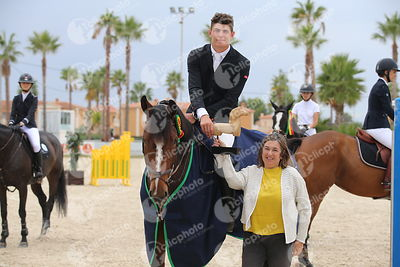 Oliva, Spain - 2018 October 14: Bronze tour 1m30 during CSI Mediterranean Equestrian Autumn Tour I.(photo: 1clicphoto.com)
