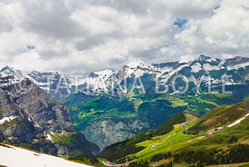 Upper terrace of Lauterbrunnen Valley