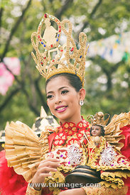 sinulog festival in cebu of philippines