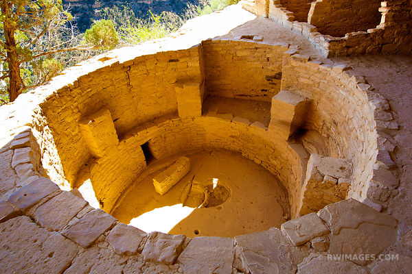 KIVA BALCONY HOUSE MESA VERDE NATIONAL PARK COLORADO COLOR