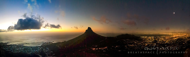 Lion's HEad splits day from night
