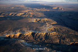 Aerials of Chaco canyon and Pueblo Bonita, NM