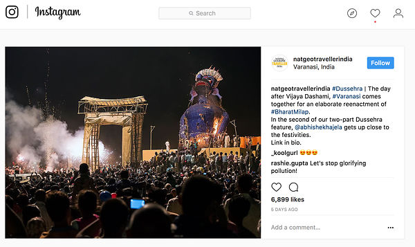 National Geographic Traveller India, Instagram Page, Oct 2017 photos