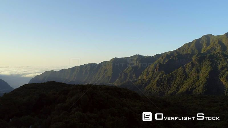 Lush Mountains of Madeira Island Drone Video Portugal