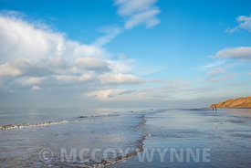 Advancoing Tide at Formby Point, Merseyside