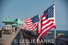 American Flag on South Carolina Pier