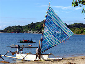 Outrigger fishing boat Lombok 2