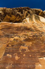 Petroglyphs on a Cliff High above Nine Mile Canyon