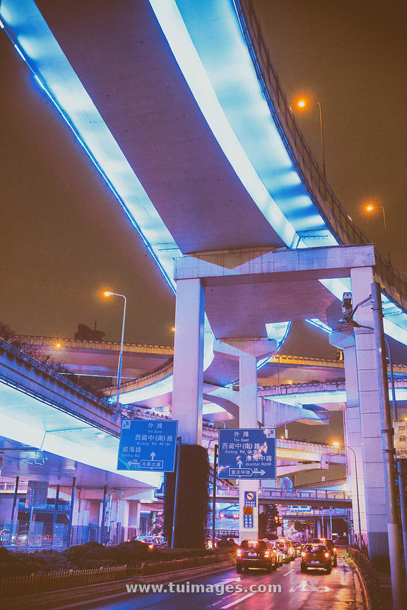 Yan'an elevated road flyover interchange