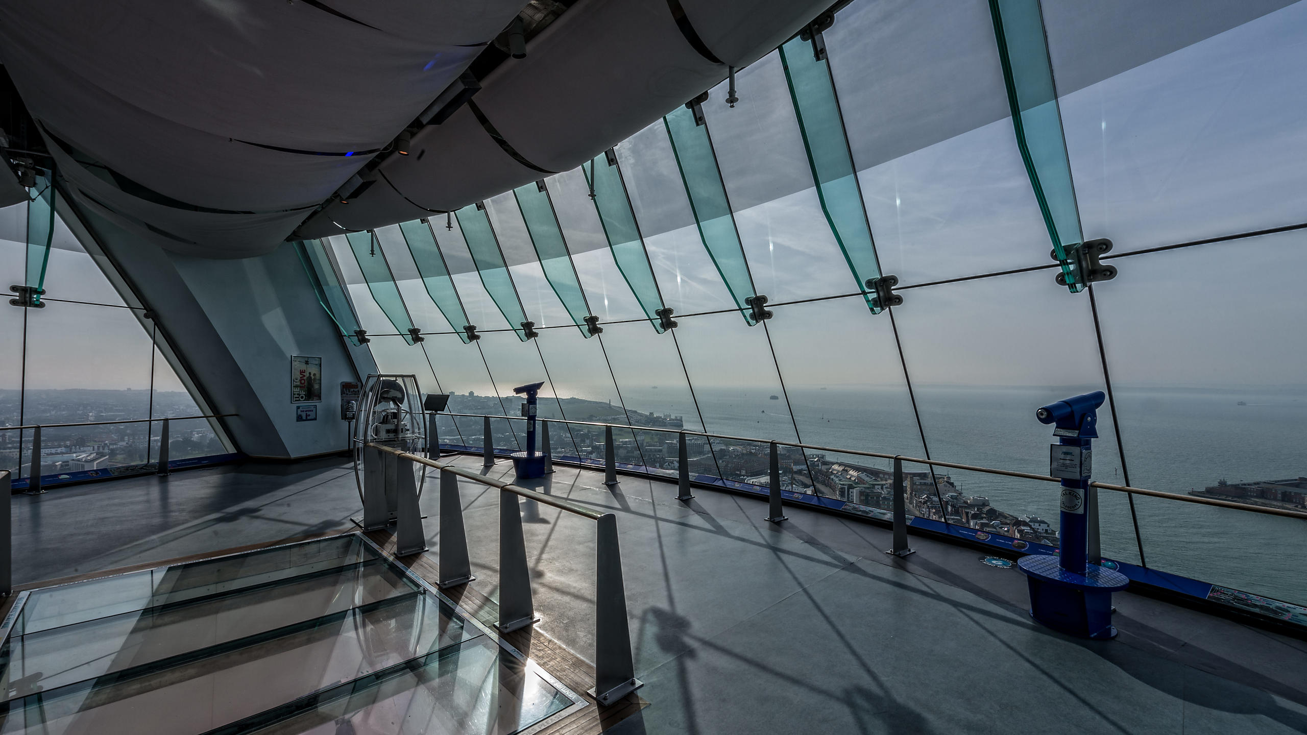Spinnaker Tower View Deck One with Glass Floor