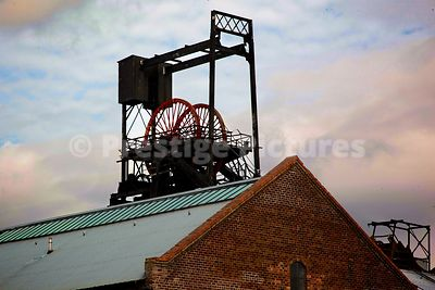 Pithead Wheel and Winding Gear at the National Mining Museum Scotland