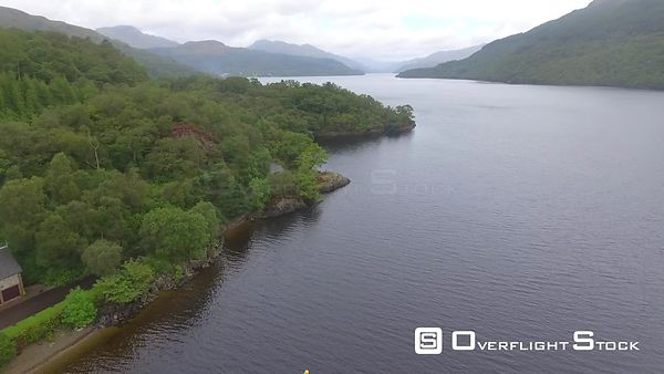 Drone Video Loch in Scotland