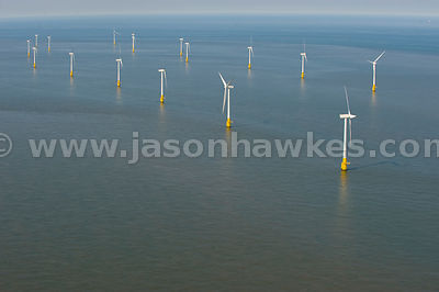 Scroby Sands Wind Farm, off the coast of Great Yarmouth