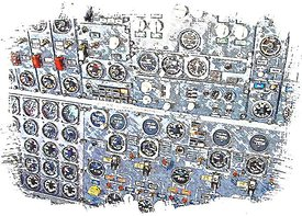 747 flightengineer panel