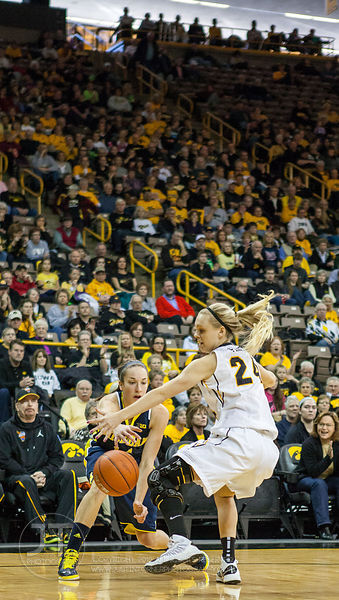 Iowa vs Michigan Womens Basketball, January 6, 2012