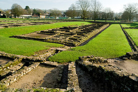 roman barracks caerleon near newport south wales uk