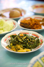 Padang food, boiled cassava leaf