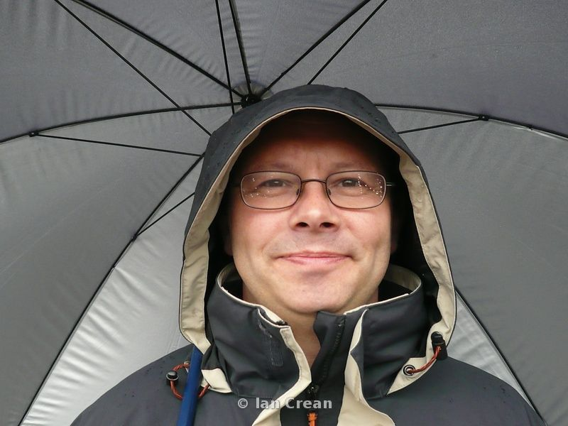 Man under Umbrella