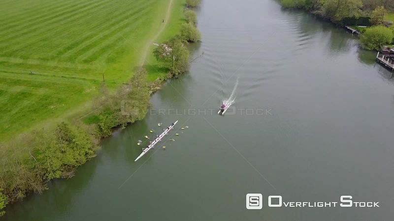 Coxed Eight Rowing Team River Thames UK
