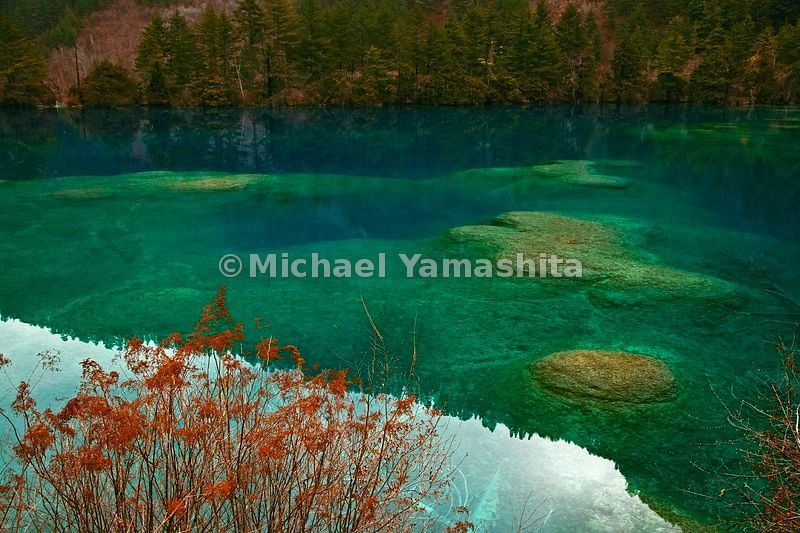This is the other China. High in the mountains of Sichuan Province, in Jiuzhaigou Nature Reserve, rare plants and animals find sanctuary, and millions of visitors have discovered cool, clear, sapphire-and-emerald- tinted waters, far removed from the sooty industrial sprawl that consumes lands and lives below.