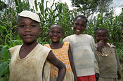 African children smiling facing camera Kenya Africa