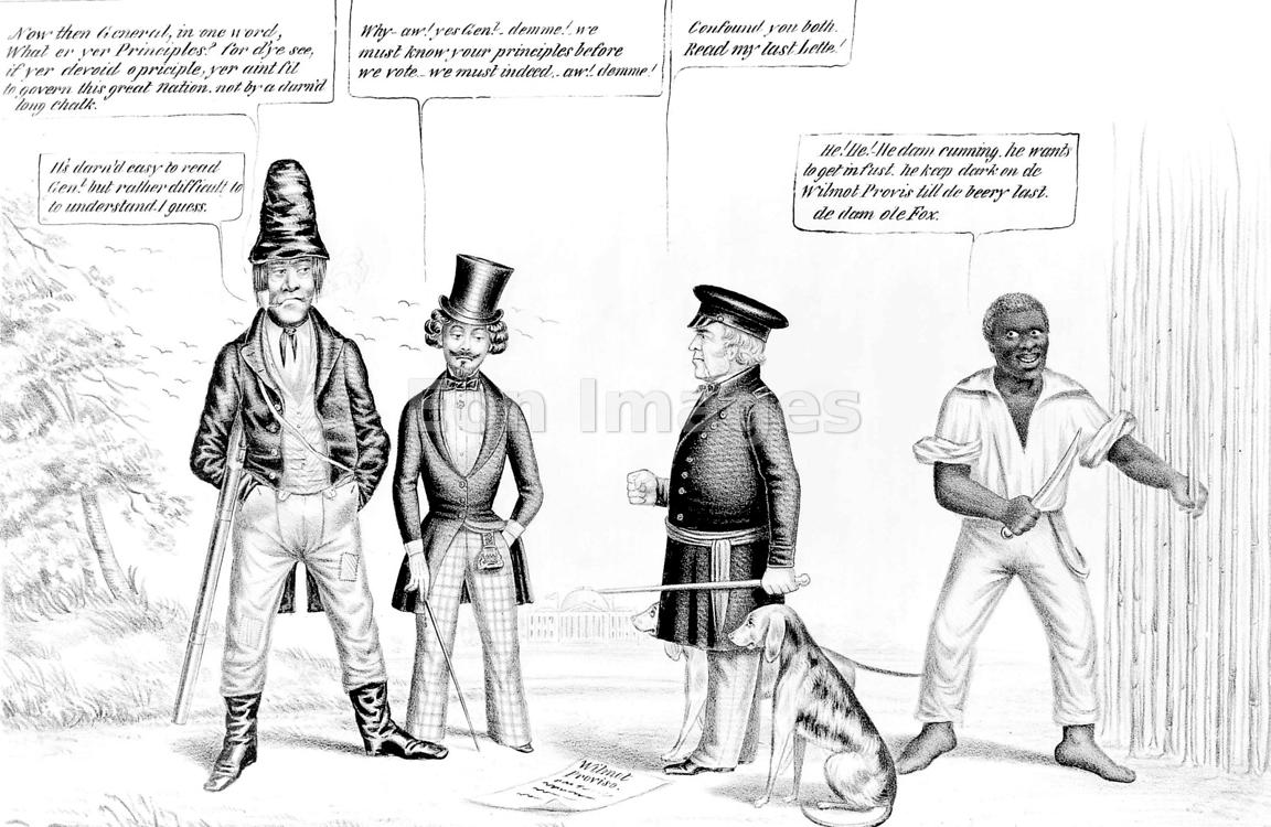 Cartoon from 1848 regarding Wilmot Proviso