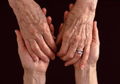 Old & younger women's hands