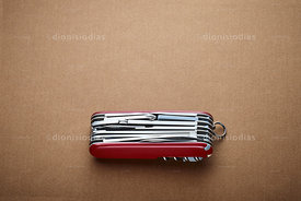 Swiss Army knife closed horizontally