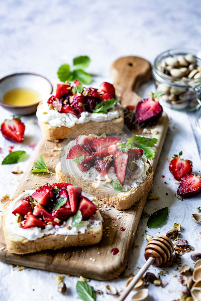 Strawberry Ricotta Toast