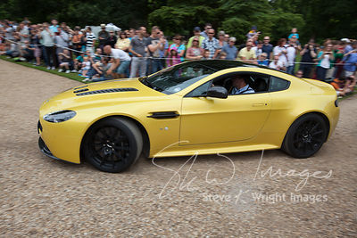 The latest Aston Martin V12 Vantage S arriving at the Wilton Classic and Supercar 2013 - Wilton House, Salisbury, Wiltshire, United Kingdom (4th August 2013)
