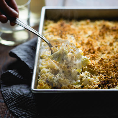 creamy cardoon mac and cheese